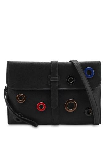 Perllini&Mel black Faux Leather Clutch Wristlet PE444AC0SJ09MY_1