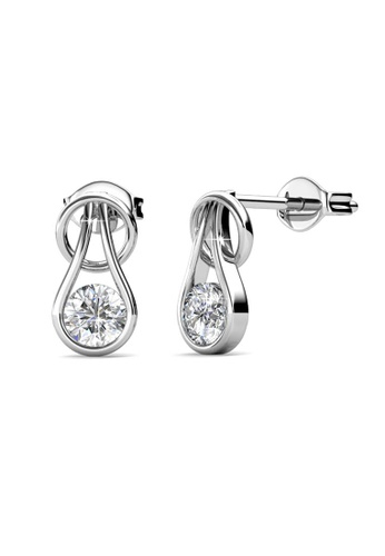 Her Jewellery silver Her Jewellery Crystal Droplet Earrings with 18K Gold Plated D51A7AC264D20FGS_1