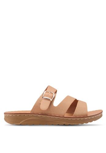 Noveni beige Slide-On Sandals B228FSH0BC9A23GS_1