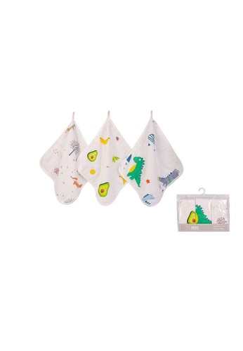 Little Kooma white Bebe Comfort Double Layers Muslin n Terry Washcloths 3Pcs BC61108 42801KCCE01A9BGS_1