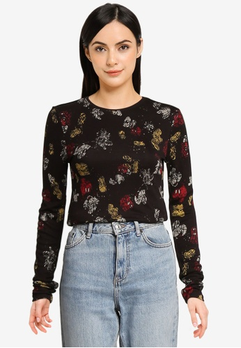 Desigual black Mickey Lovers T-Shirt E81A2AA3A6B7F5GS_1