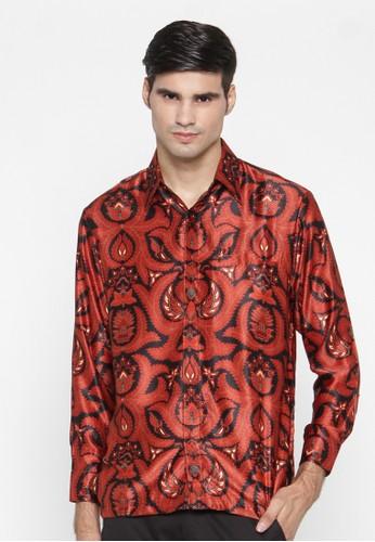 Waskito Kemeja Batik Semi Sutera - KB LE 860511 - Red