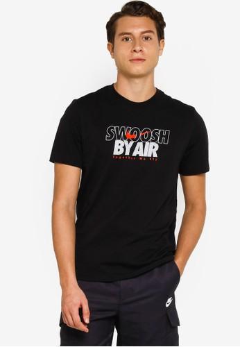 Nike black As M Nsw Swoosh By Air Gx Tee AFB24AA58510B1GS_1