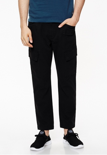 Life8 black Casual Work Pant Chino In Straight Fit-02429-Black LI283AA0GOHFSG_1