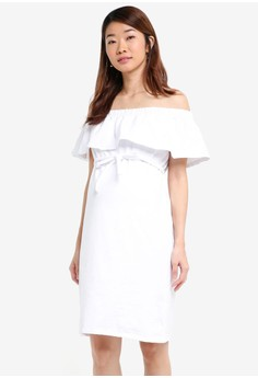 【ZALORA】 Maternity Elsa Short Sleeve Short Jersey Dress