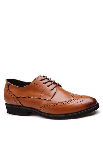 Twenty Eight Shoes 褐色 拷花真皮商務鞋 VMF36001 0E6BFSH09CF8A8GS_1