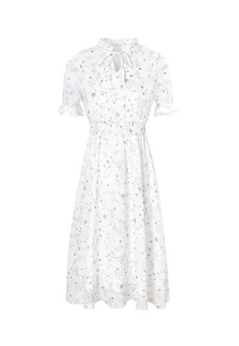 HAPPY FRIDAYS Slim Print Chiffon Dress 63230 0D82FAA8C0C5B6GS_1