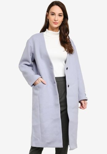 GLOBAL WORK purple Long Coat 4A44FAA6DED4EFGS_1