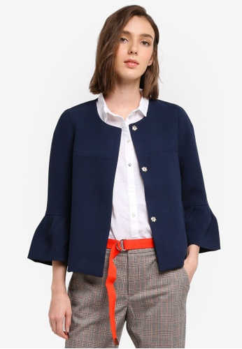 Esprit navy Outdoor Woven Regular Jacket 7C573AA181C9B4GS_1