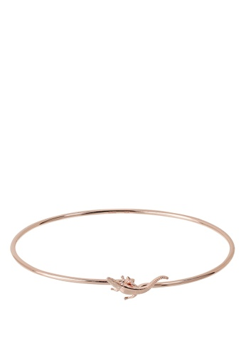 CLUSE gold Force Tropicale Rose Gold Alligator Bangle Bracelet EB34EAC4BA4465GS_1