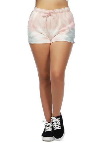 London Rag pink Mauve Tie-Dye Shorts E583BAA14CEA06GS_1