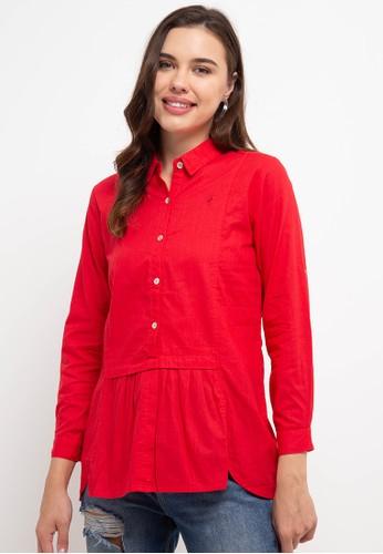 Cressida Ladies red Asilla Shirt AEED7AA53F0631GS_1