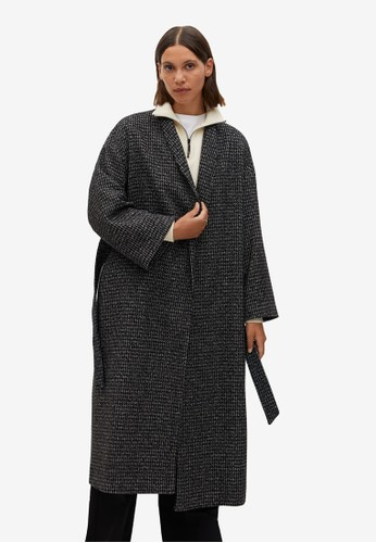 Mango blue Belted Wool Coat 6C9A3AA24584F0GS_1