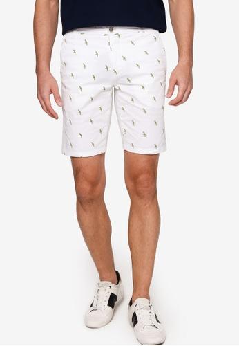 Sacoor Brothers white Men's Casual Slim Fit Bermuda Shorts B31D3AAE30F744GS_1