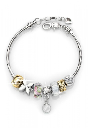 Her Jewellery white and silver Her Jewellery Pearl Charm Bracelet (White) E3C43ACAD54DCCGS_1