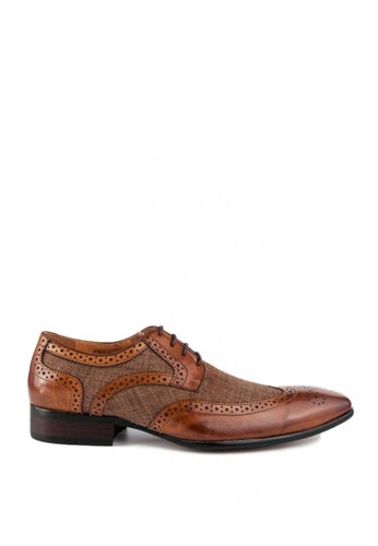 Kings Collection brown Bastian Brogue Shoes 6027ASHBDDF8BEGS_1
