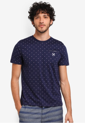 REGATTA navy Tee With All-Over Print B4028AAFB84A3AGS_1