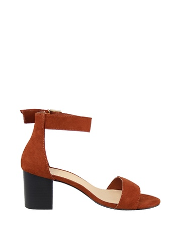 London Rag brown Brown Chunky Heel Sandal 80641SH5062D0DGS_1