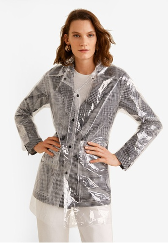 MANGO white Transparent Trench Coat F9C44AAF783CE4GS_1