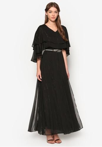層esprit 包疊蓋袖長洋裝, 服飾, 長洋裝