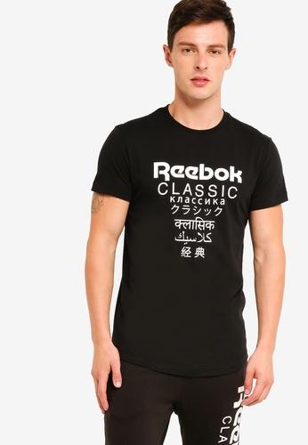 Reebok 黑色 經典品牌印花T恤 12F1AAAF47422BGS_1