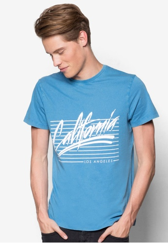 New Look blue Cali Print Acid Tee NE182AA22YDHMY_1