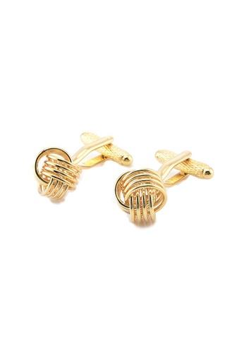 Kings Collection gold Knot Elegant Men Cufflinks 63B34AC701D78BGS_1