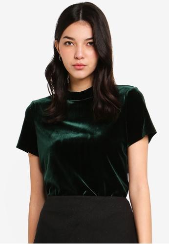 ESPRIT green Woven Short Sleeve Blouse EBE26AADDD3CF8GS_1
