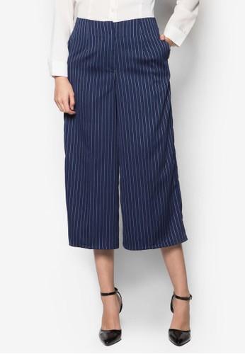 Melissa 條紋寬管esprit童裝門市褲, 服飾, 服飾