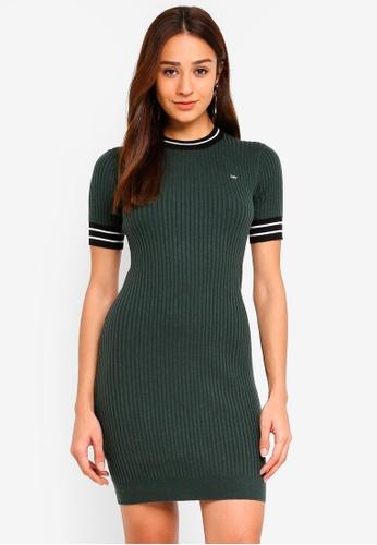 Jack Wills green Eaton Cable Dress B98B3AA287EEA7GS_1