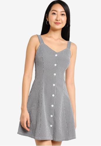 ZALORA BASICS multi Cami V Neck Button Down Dress 1D06CAABA2E7E1GS_1