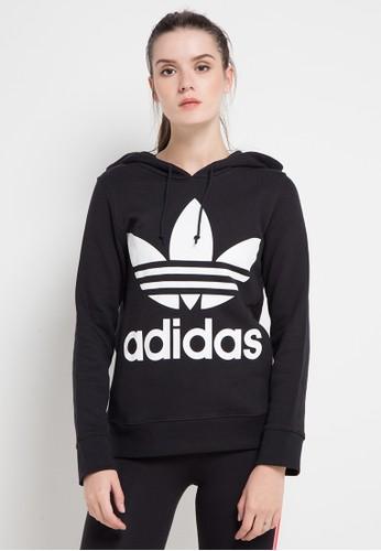 adidas black adidas originals trefoil hoodie 945C6AA5DA9A06GS_1