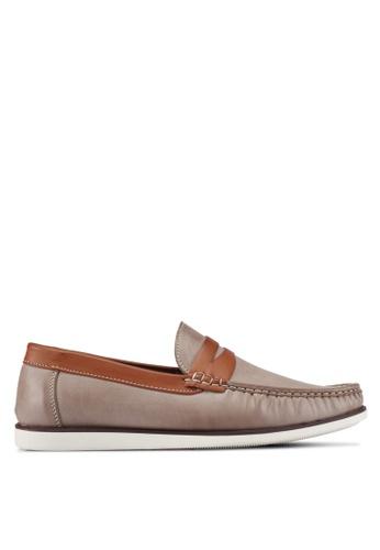 JAXON brown Classic Canvas Loafers 71A74SH0E49CFBGS_1