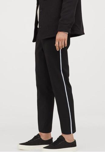 H&M black Trousers Slim Fit 2B49BAAEFCC355GS_1