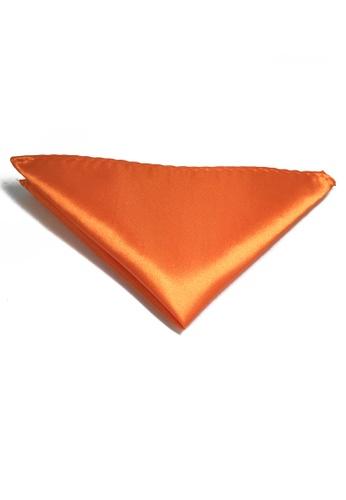 Splice Cufflinks Lustrous Series Orange Polyester Pocket Square SP744AC55KUMSG_1