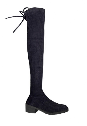 Twenty Eight Shoes black Sheep Suede Silhouette Over Knees Boots VBG1 D10AFSH6C08603GS_1