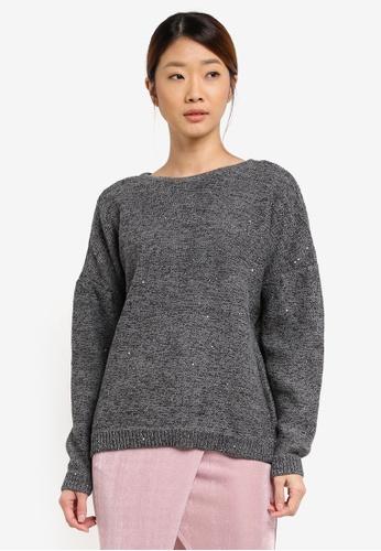 ESPRIT grey Long Sleeve Jumper ES374AA0T158MY_1