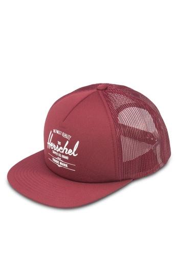 Herschel red Whaler Mesh Snapback HE114AC84KPFMY_1