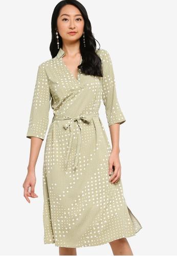 ZALORA BASICS multi Self Tie Dress D47A0AAE08384FGS_1