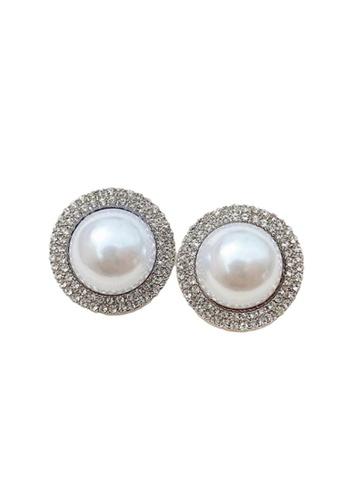 Kings Collection silver Vintage Faux Pearl Earrings (KJEA20061) A416FAC38D55C3GS_1