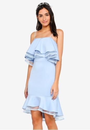 ZALORA blue Bridesmaid Ruffles Peplum Hem Dress C2057AA33BB3E0GS_1