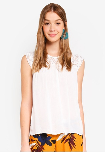 ONLY white Tango Cap Sleeve Top C4D6FAAABFD2FFGS_1