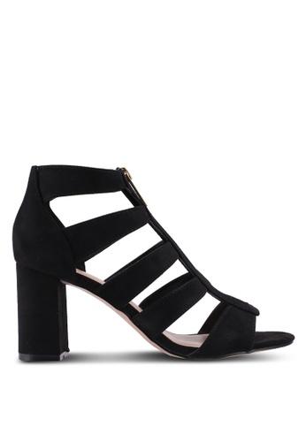 Miss KG 黑色 Fate Zip Cutout Heels CC7DFSH16535AEGS_1