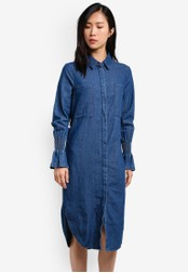 The Fifth Label blue Sentiment Shirt Dress TH664AA0S3PMMY_1