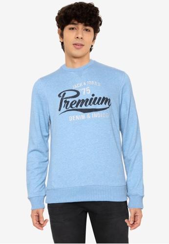 Jack & Jones blue Bluethan Crew Neck Sweatshirt 818C0AA21D5B4CGS_1