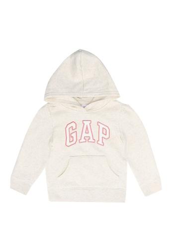 GAP grey Logo Pullover Hoodie 1EF46KA119F3D5GS_1