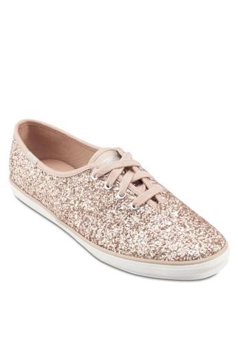 Chesprit tstampion 閃飾繫帶休閒鞋, 女鞋, 鞋