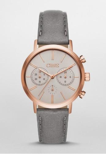 CHAzalora 男鞋 評價PS Whitney Chrono三眼計時腕錶 CHP1028, 錶類, 休閒型