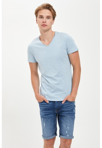 DeFacto blue Man Knitted T-Shirt 2C76CAA6A67CDCGS_1