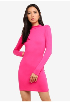 9de78068cd Buy MISSGUIDED Silky Long Sleeved Panelled Shift Dress Online ...